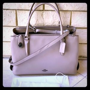 Coach pebble leather large Brooklyn !